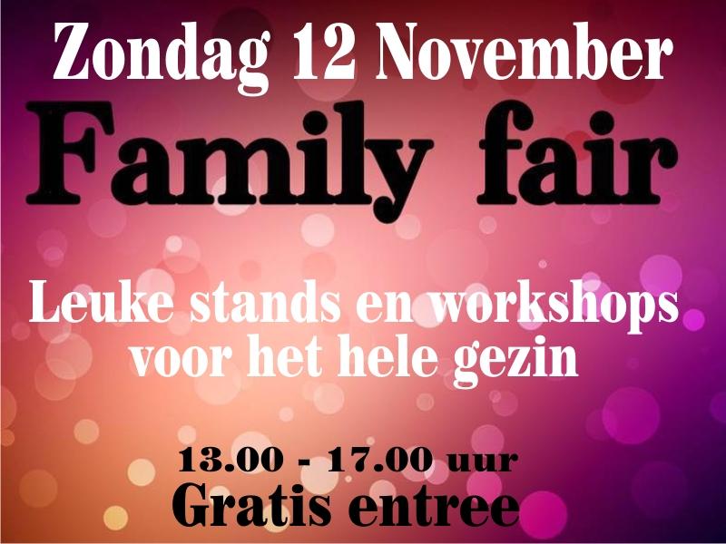 Family Fair - 12 november